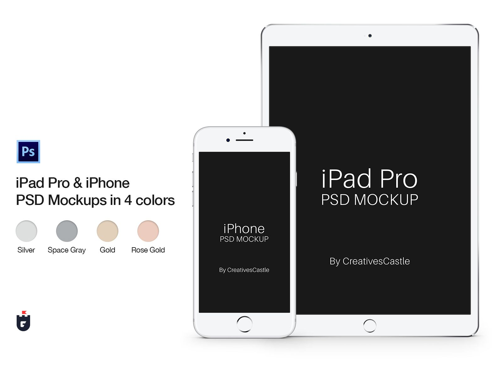 Download Iphone Ipad Pro Psd Mockups In 4 Colors Iphone Mockup Psd Mockup Psd Ipad Pro