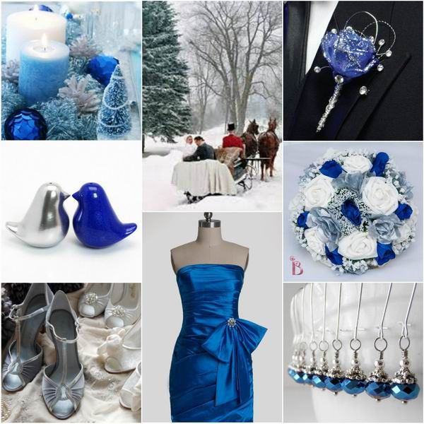 Navy Blue And Silver Wedding Ideas: Romantic Winter Wedding Colors: Blue Shades + Silver
