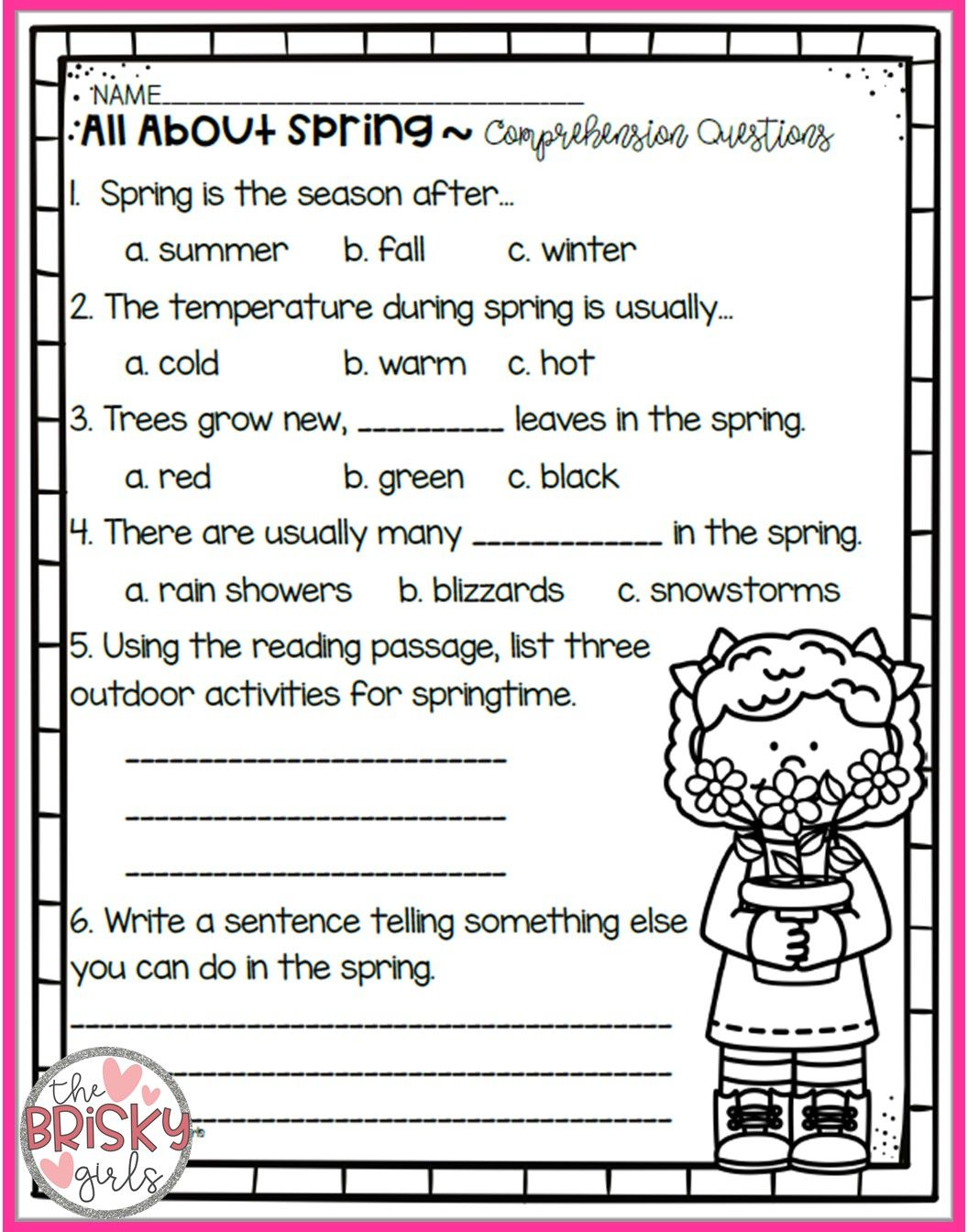 Free Printable 4th Grade Mother S Day Reading