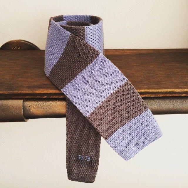 33 | Cool wool rugby tie  www.treinta-tres.com #33 #tie #knittie #coolwool #summertie