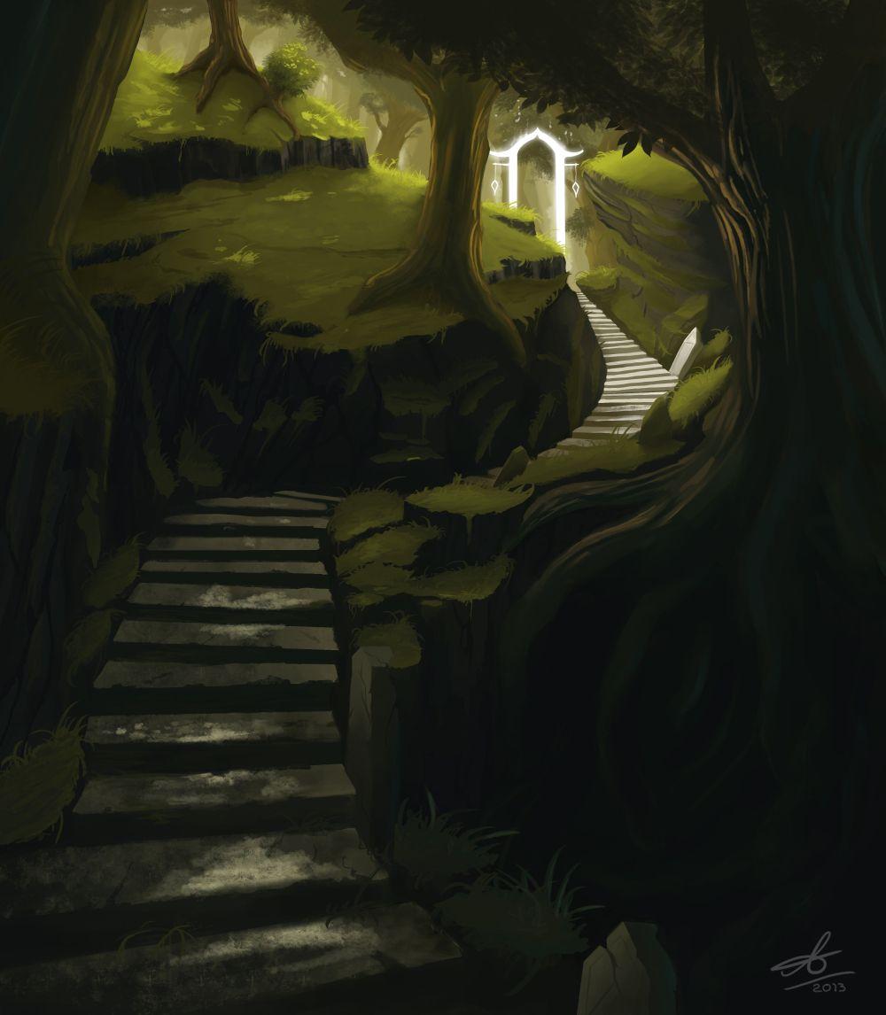 Glowing door fantasy art pinterest environment rpg and