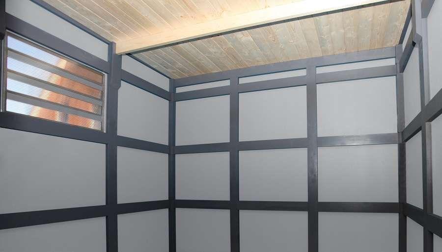 Gerätehaus CrossCube Haus, Umbauter raum, Fenster und türen