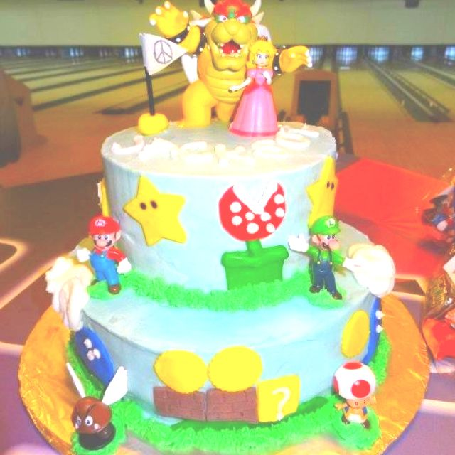 Pin By Jen Hayes On Parties For Kids Pinterest Bowser Cake - Bowser birthday cake