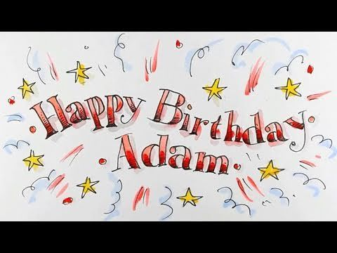 How to draw happy birthday in fancy lettering spoken tutorial how to draw happy birthday in fancy lettering spoken tutorial bookmarktalkfo Image collections