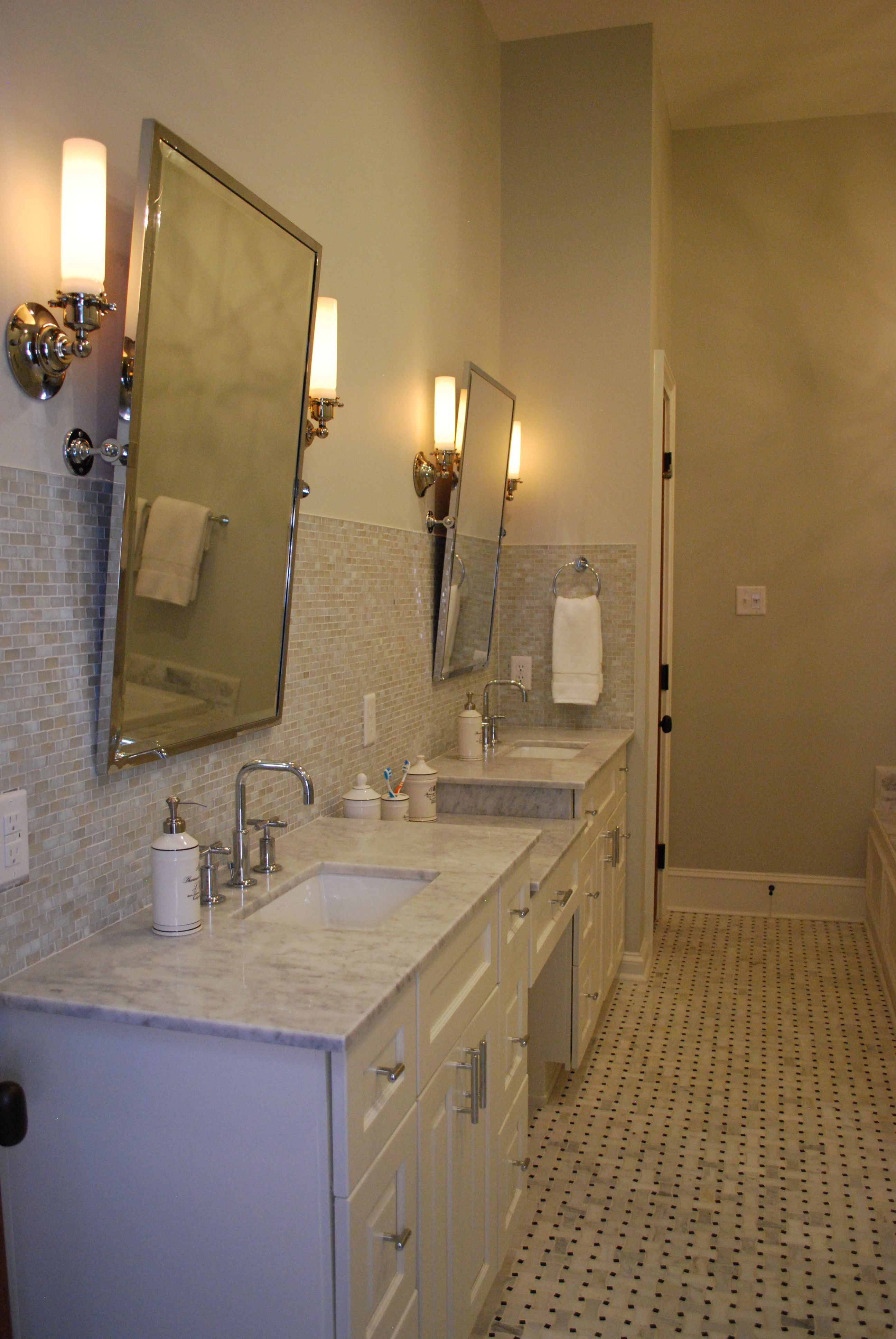 Master Bath Custom Designed And Built Double Vanity With Dropped Down Quot Master Bathroom