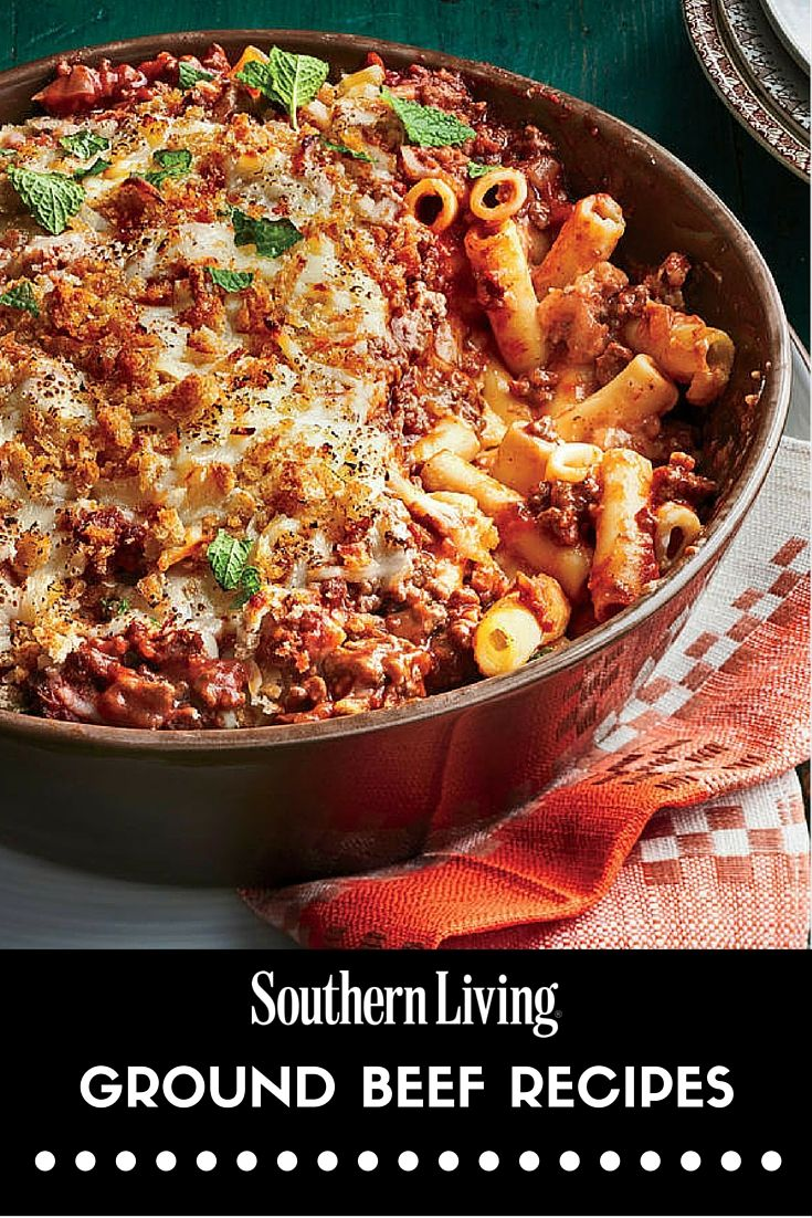 Our Best Ever Ground Beef Dinners Greek Baked Ziti Recipe Baked Ziti Quick Ground Beef Recipes