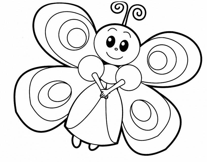 Raskraski Babochki Dlya Detej Butterfly Coloring Page Animal Coloring Pages Kindergarten Coloring Pages