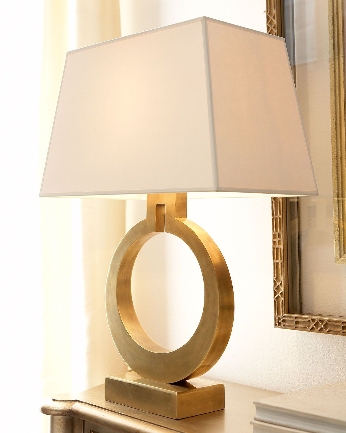 Brass Ring Table Lamp Traditional Lamp Shades Table Lamps For