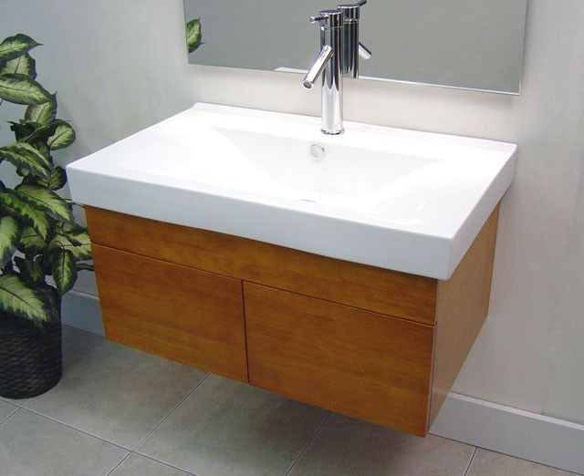 Fresco Of Small Wall Mounted Sink: A Good Choice For Space Challenged  Bathroom