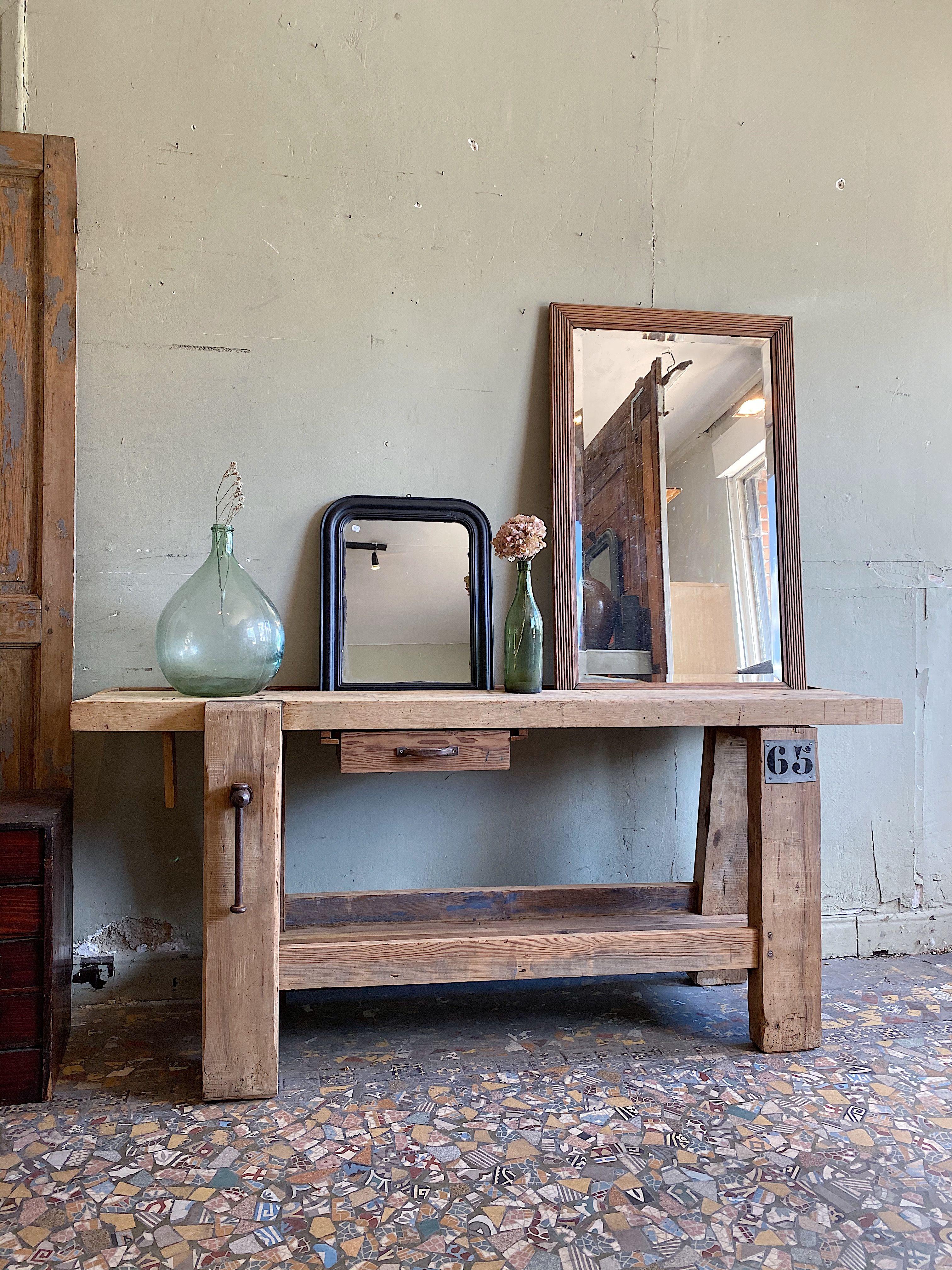 Etabli De Menuisier En Bois Debut Xxeme Par Le Marchand D Oublis En 2020 Etabli Deco Maison Decoration Maison