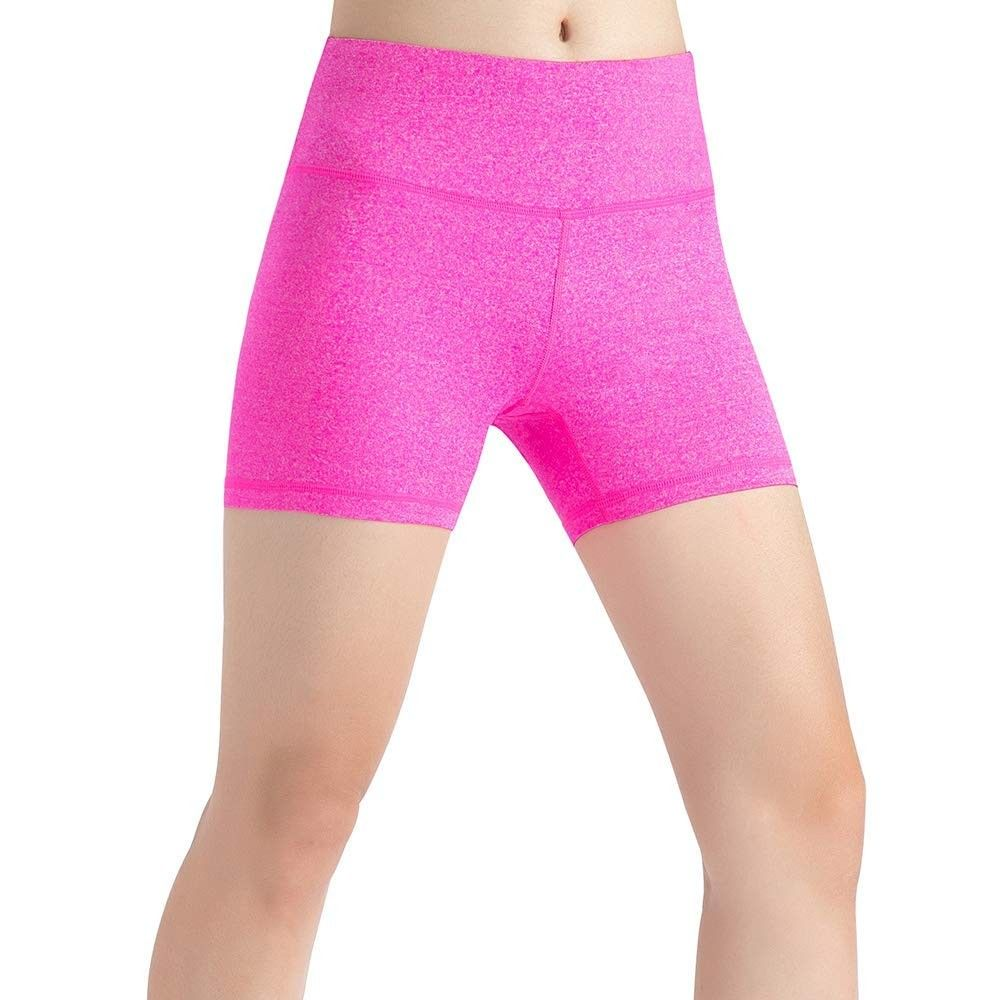 Women's High Waist with Hidden Pocket Yoga Shots - Tummy Control Workout Running Yoga Align Shots -...