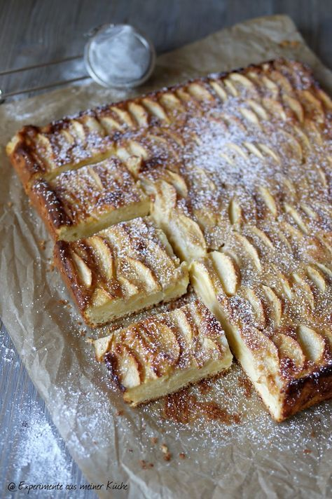 Apfelkuchen Mit Zimtguss Experimente Aus Meiner Kuche Apfelkuchen Mit Zimt Kuchen Kuchen Backerei