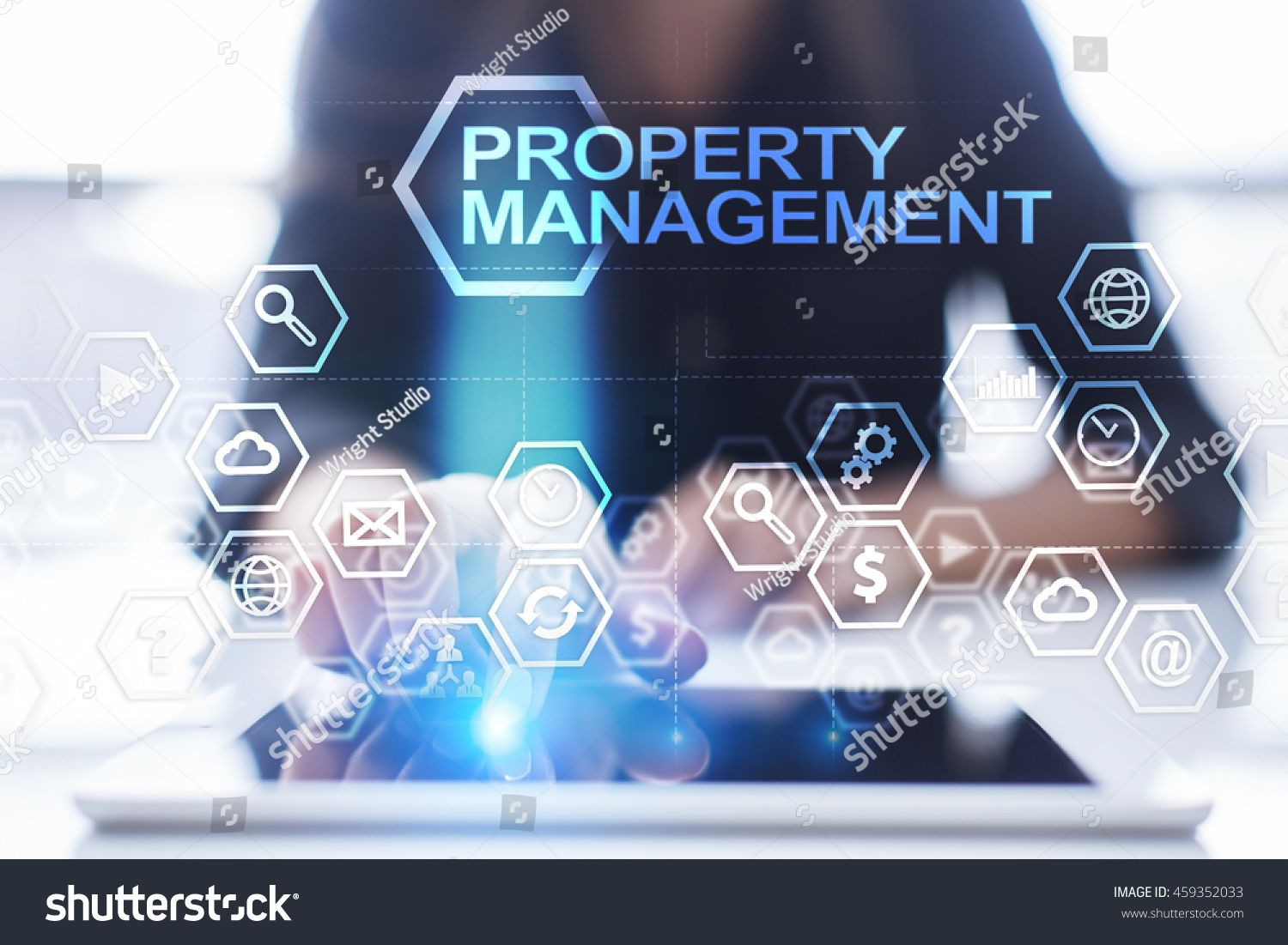 Woman Is Using Tablet Pc Pressing On Virtual Screen And Select Property Management Ad Affiliate Pc Pressing Wo Data Analytics Internal Audit Data