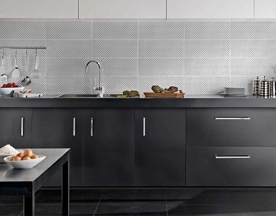 Wandfliese marazzi black and white fliesenmax 553x434 160818 - fliesen für die küche