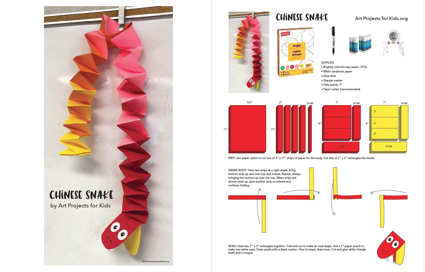 Chinese New Year Snake Tutorial Art Projects For Kids