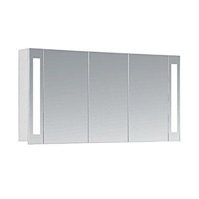 Amazonde HAPA Design Bad Spiegelschrank Venedig 120 weiß 3-türig - spiegelschrank badezimmer 120 cm