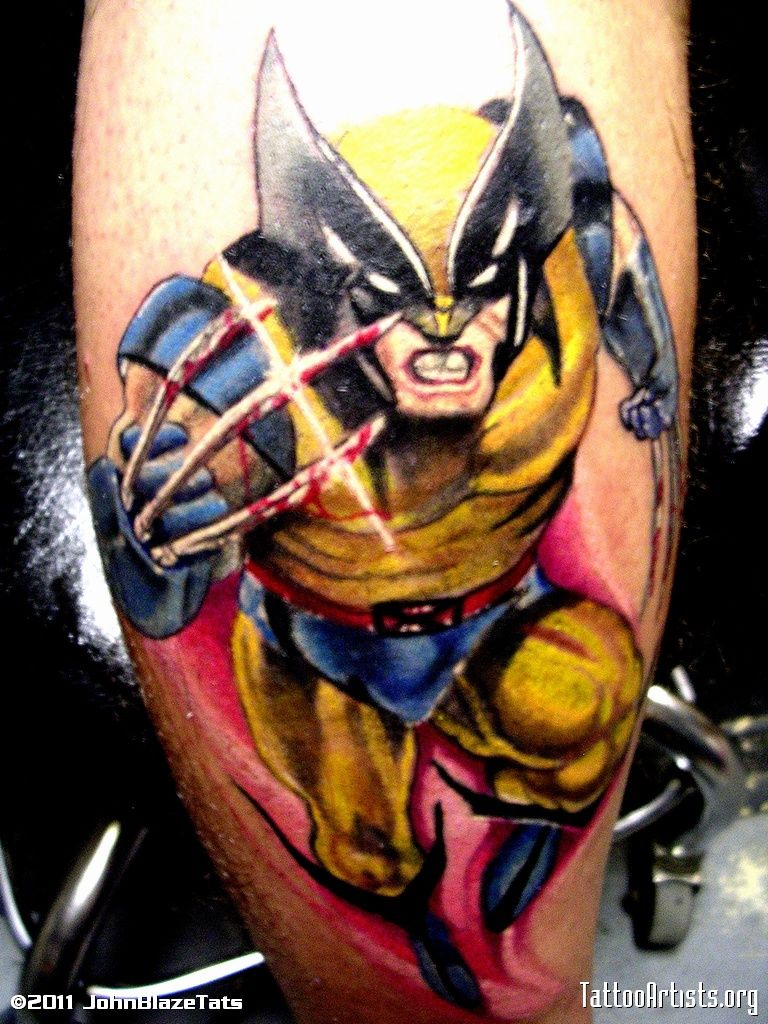 Wolverine tattoos wolverine tattoo in for Tattoo places in dc