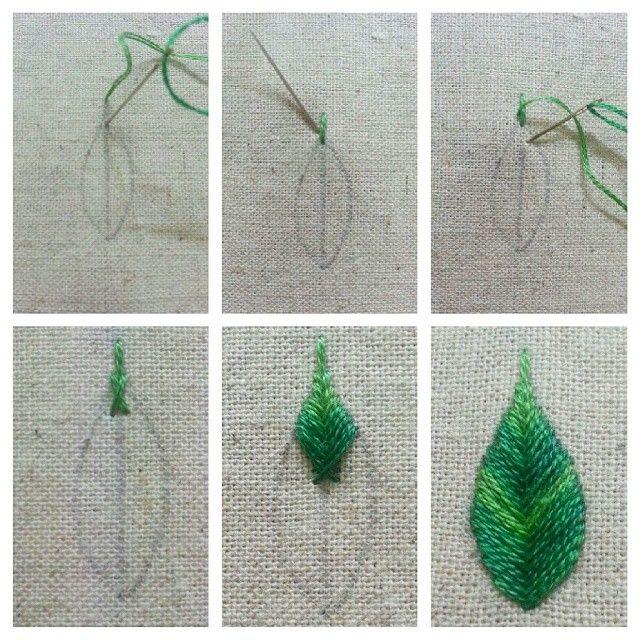 #embroidery #embroder  #needlework #leaf  #fish #bone #stitch  #자수타그램 #자수쌤 #프랑스자수 #잎 #피시본스티치 #일일자수🏫 ★피시본스티치 상단끝 중심으로 바늘이나온다 사진은 잎끝을 좀 뾰족하게 뺐는데 짧게해도 상관없다.(느낌대로~) 갠적으로 잎 스티치중에 제일 애정하는 스티치로 생선뼈같다고해서 붙여진 피시본. (이름도 잘짓네).🐟
