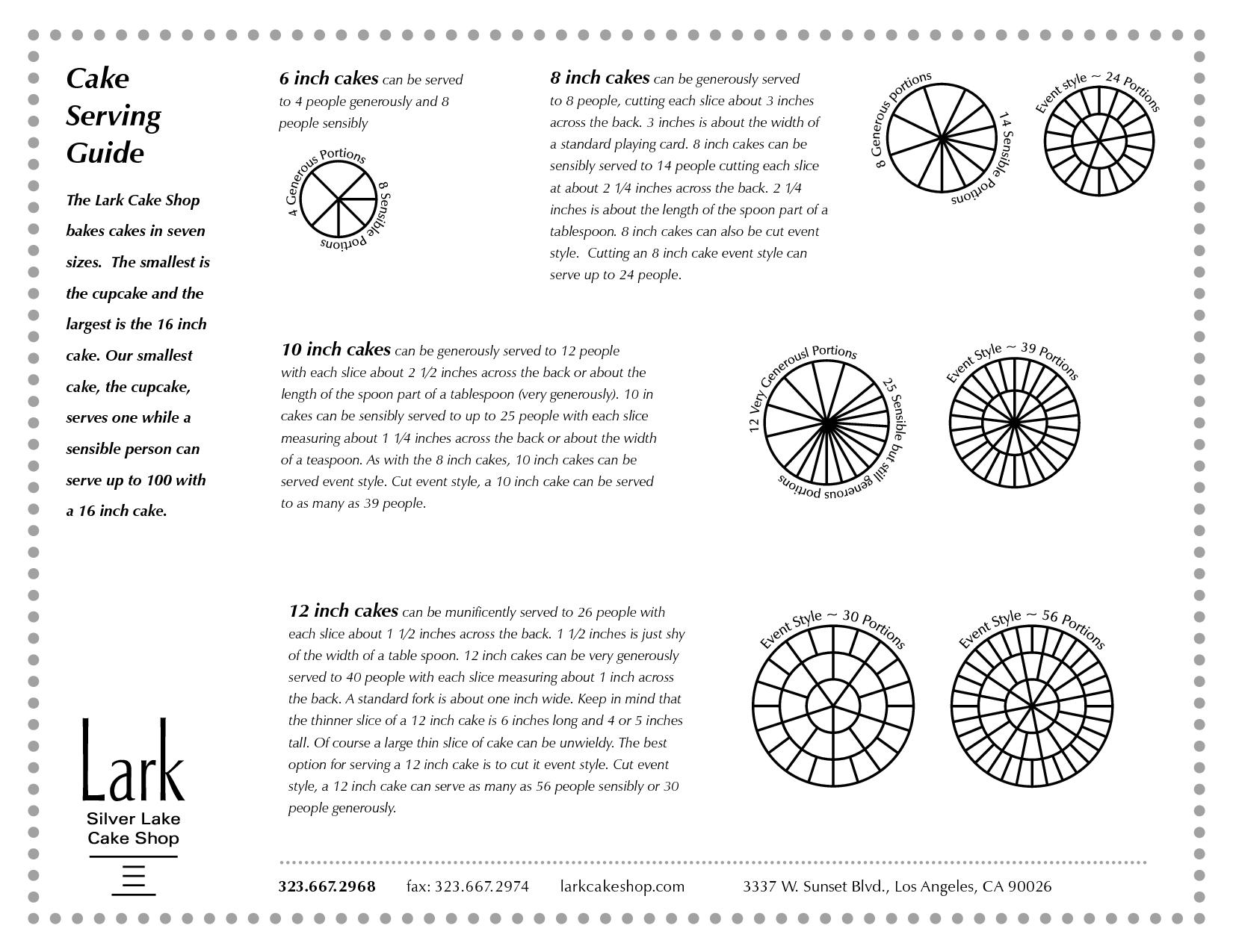 Wedding Cake Sizing Chart: Image Of Printable Wedding Cake Serving Size Chart