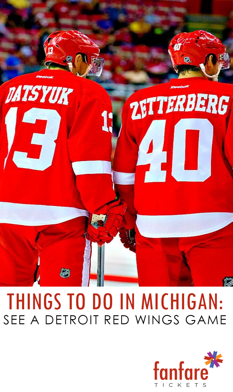 Things to do in Michigan See a Detroit Red Wings game