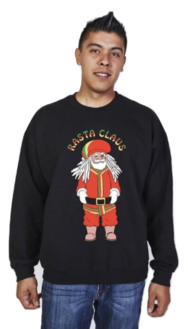 Rasta Claus Lol Worthy Ugly Christmas Sweater For Guys Fun And