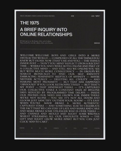 The 1975 A Brief Inquiry Into Online Relationships Msc