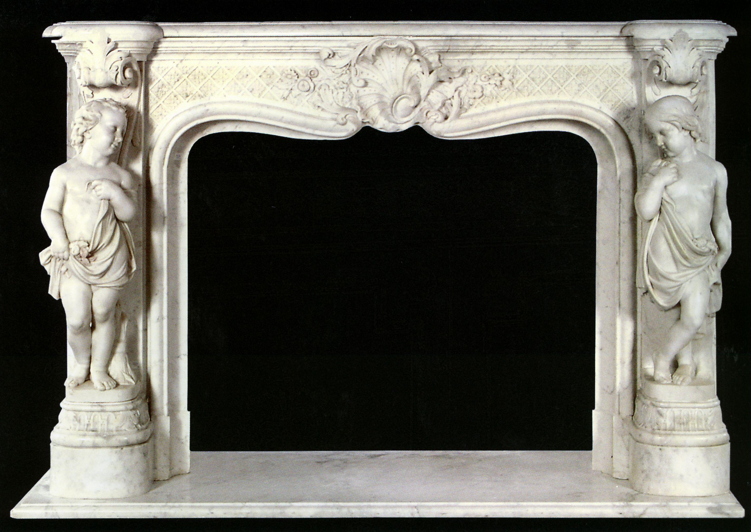 Sculptural Carrara Marble Fireplace Fireplace Marble Fireplaces Granite Fireplace