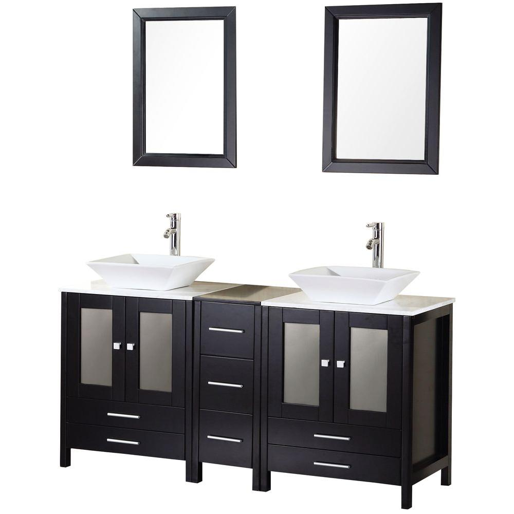 Design Element Arlington 61 In W X 22 In D Vanity In Espresso
