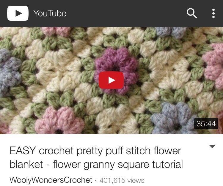 Granny square flower crochet blanket