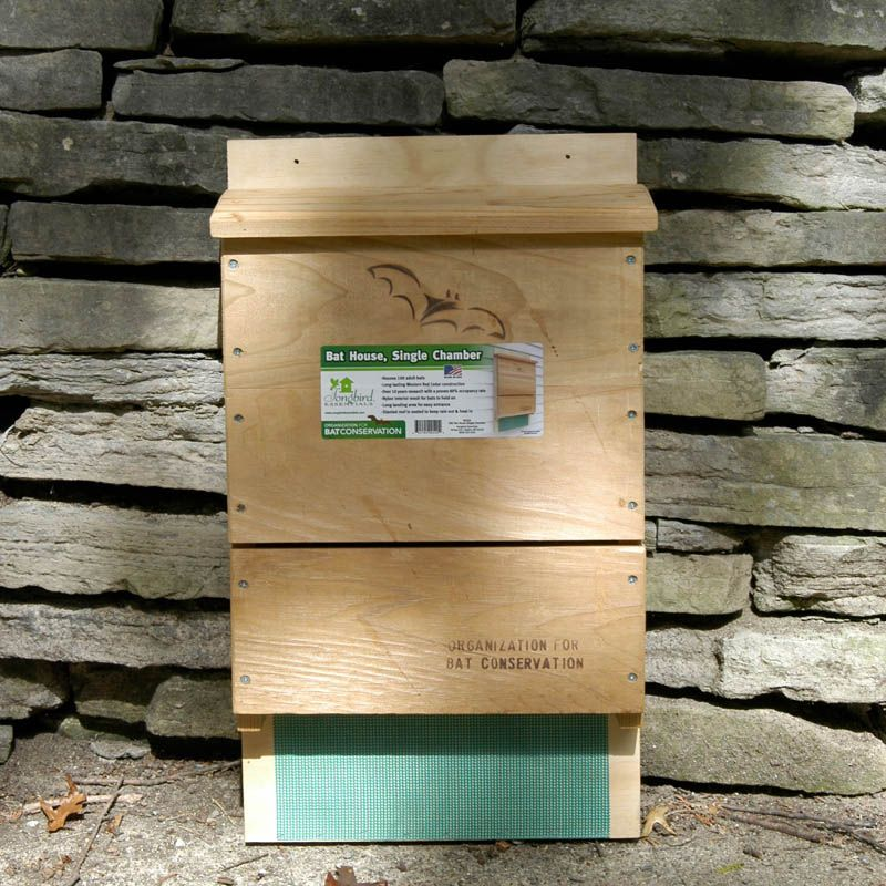 Bat house kit my wish list pinterest yards bat box and gardens tackle this easy project and invite a colony of up to 100 insect eating bats into your yard with the obc single chamber bat house do it yourself kit solutioingenieria Choice Image