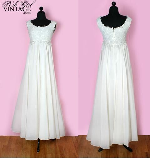 Yummy 1960 Empire Flowy Wedding Dress 3