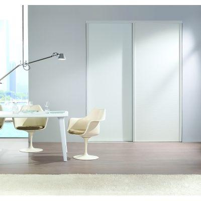Vantail porte coulissante en verre mat blanc Portes coulissantes