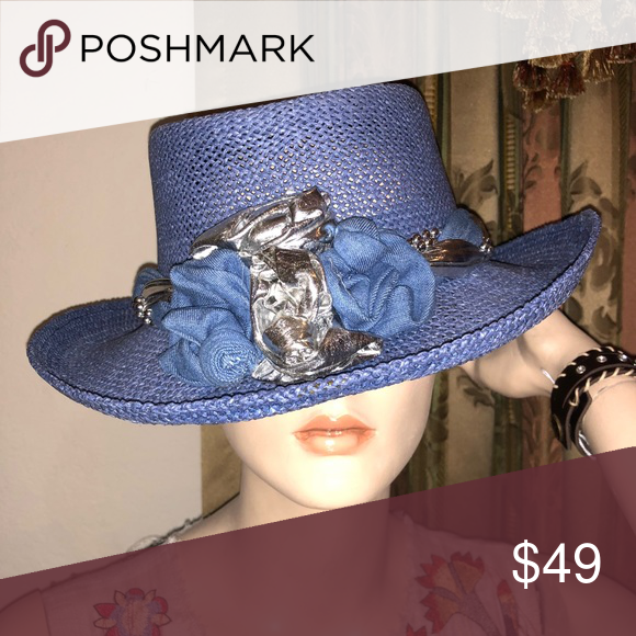 4435ad7af29 Beautiful blue hat. New. Check my other listings! Available on blue and  orange