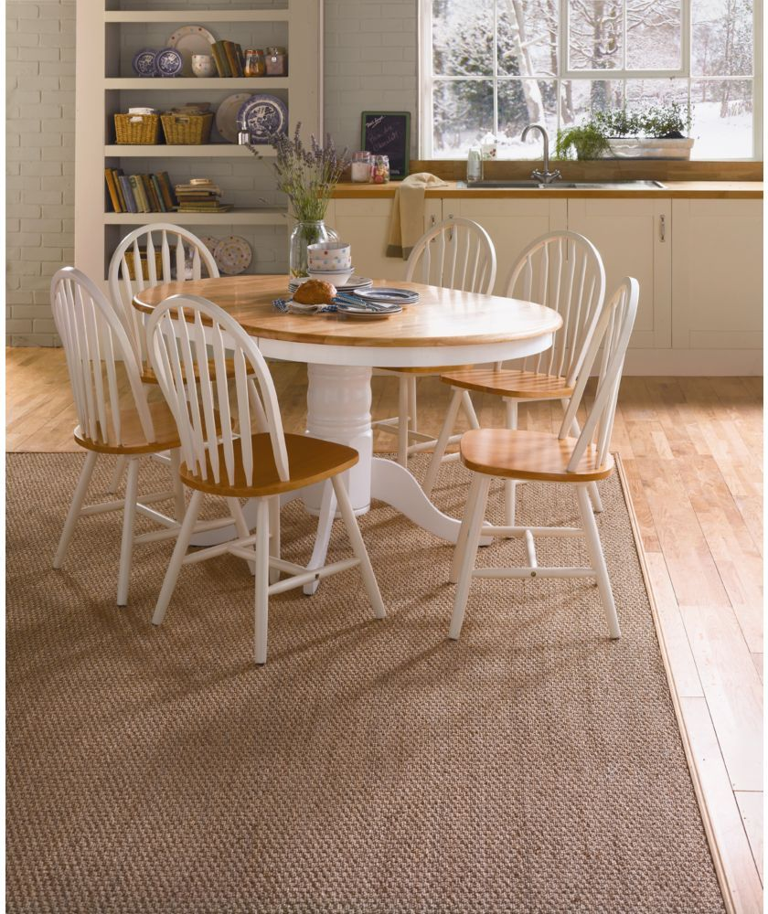 3da4bba95c Buy Kentucky White/Natural Extendable Dining Table and 6 Chairs at Argos.co.uk  - Your Online Shop for Dining sets.
