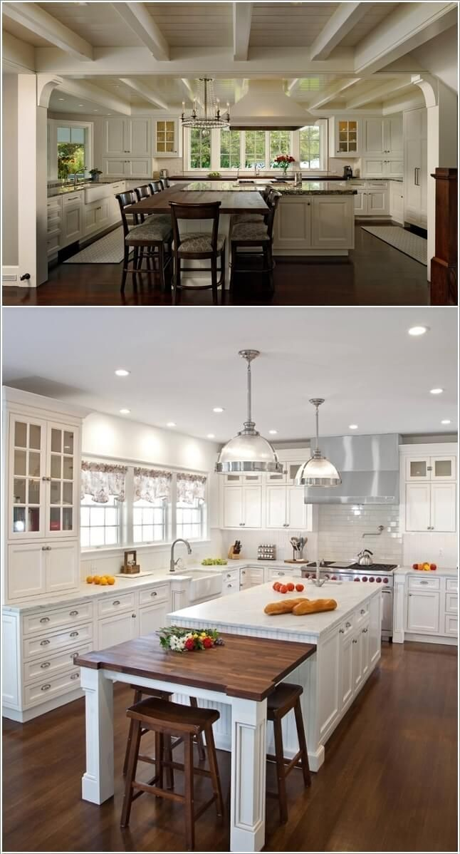 Amazing Interior Design 10 Stylish Ways To Add A Dining Area To Your Kitchen Kitchen Nook Table Kitchen Island With Seating Diy Kitchen Table