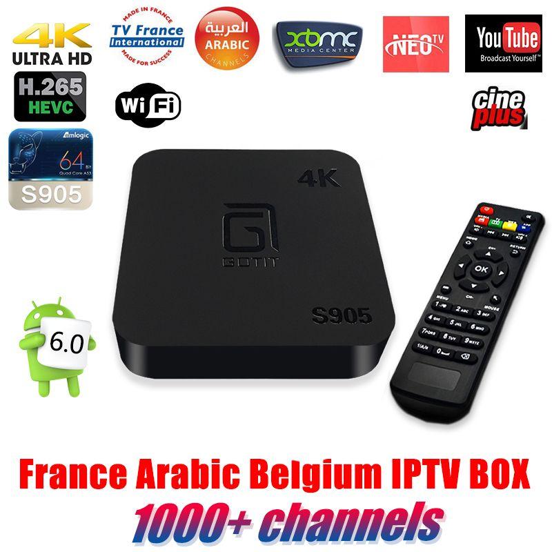 Gotit S905 Meilleur Quad Core Android Tv Box Avec 1 Année 1000 Arabe Français Belgique Iptv Code Livetv Canal Iptv Livrai Tv France Apple Tv Streaming Device