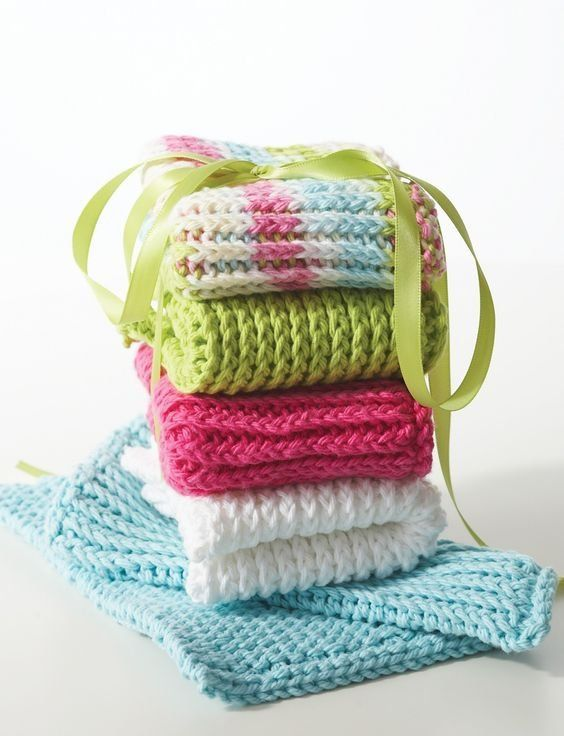 Yarnspirations.com - Lily Double Thick Dishcloth ...