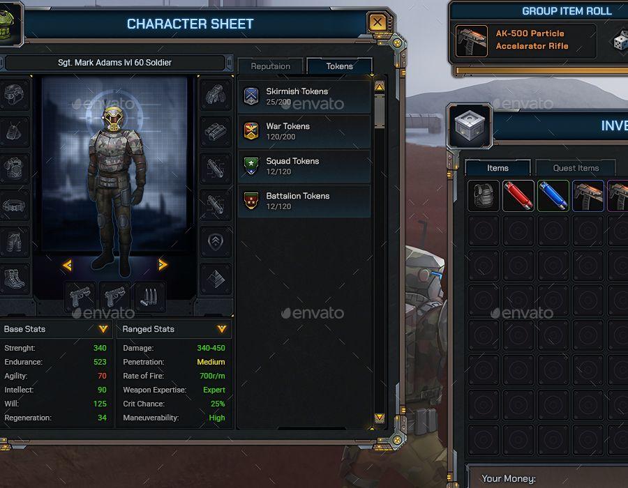 Starfall - RPG User Interface #RPG, #Starfall, #Interface