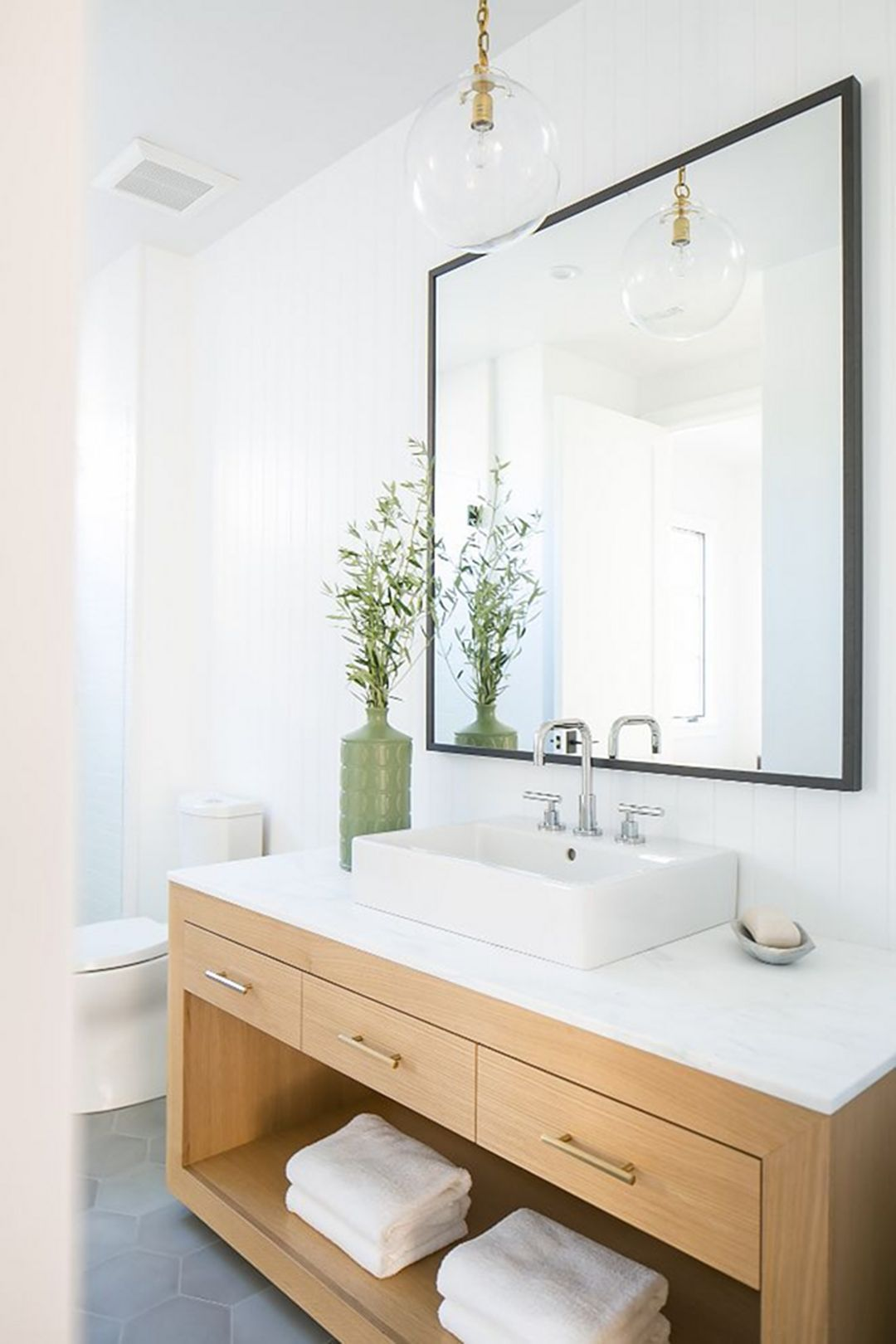 Feel more comfort while bathing with modern farmhouse - Modern farmhouse bathroom vanity ...