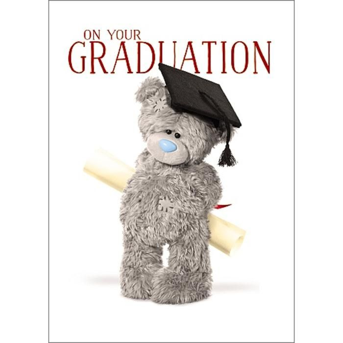 3D Holographic Graduation Me to You Bear Card  £2.69