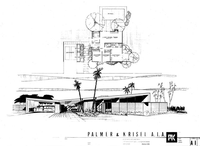 mid century modern floor plans Palm Springs Architectural