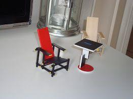 Miniatuur Rietveld Stoel : Rietveld stoel bouwpakket unique best bouwen van een schip in