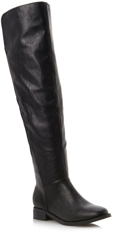 f336fbea5eb0a Pin for Later: The Best Over-the-Knee Boots For All Budgets Head Over Heels  Talia over-the-knee leather flat boots (£75)