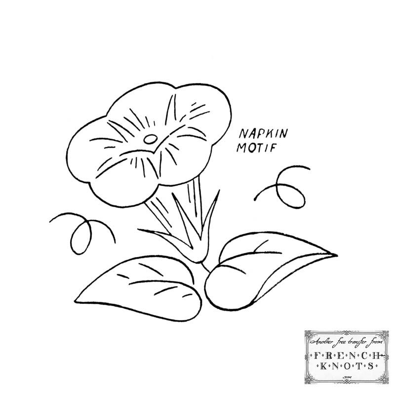 Free morning glory embroidery transfer patterns embroidery free morning glory embroidery transfer patterns dt1010fo