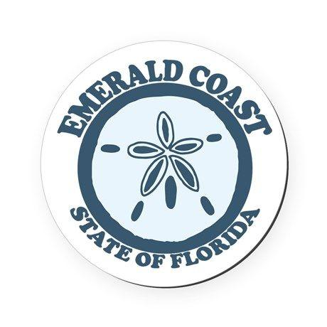 Emerald Coast - Sand Dollar. Cork Coaster on CafePress.com