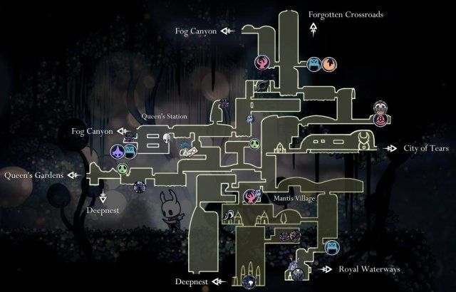 Mapa Completo Hollow Knight.Hollow Knight Maps Of Hallownest Em 2019 Rpg