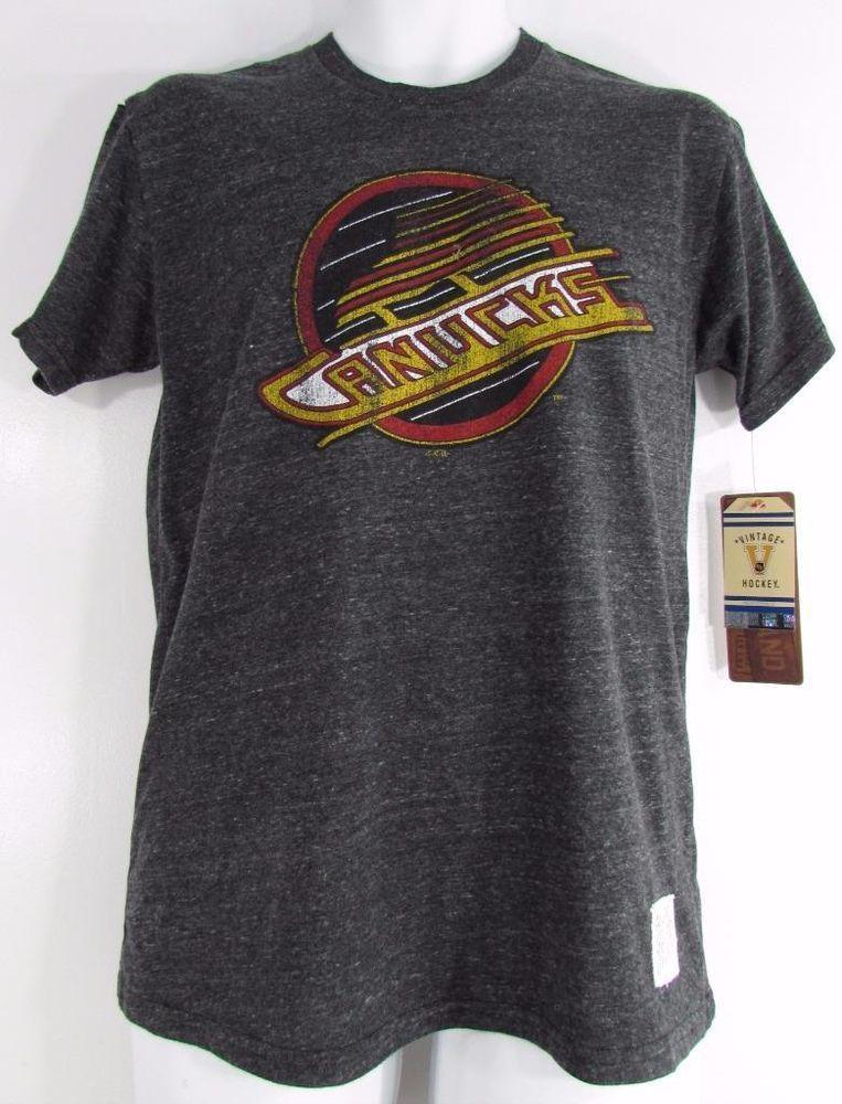 Retro Brand NHL Vancouver Canucks 1980 s Vintage Hockey T Shirt sz Small  New NWT  OriginalRetroBrand  VancouverCanucks 027ad3bee