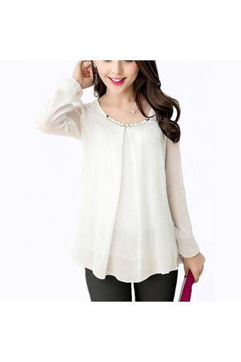 Belanja Jfashion Korean Style Blus With Necklace Long Sleeve - Putih  Indonesia Murah - Belanja Blouse   Kemeja Wanita di Lazada. FREE ONGKIR    Bisa COD. b00d2398bf