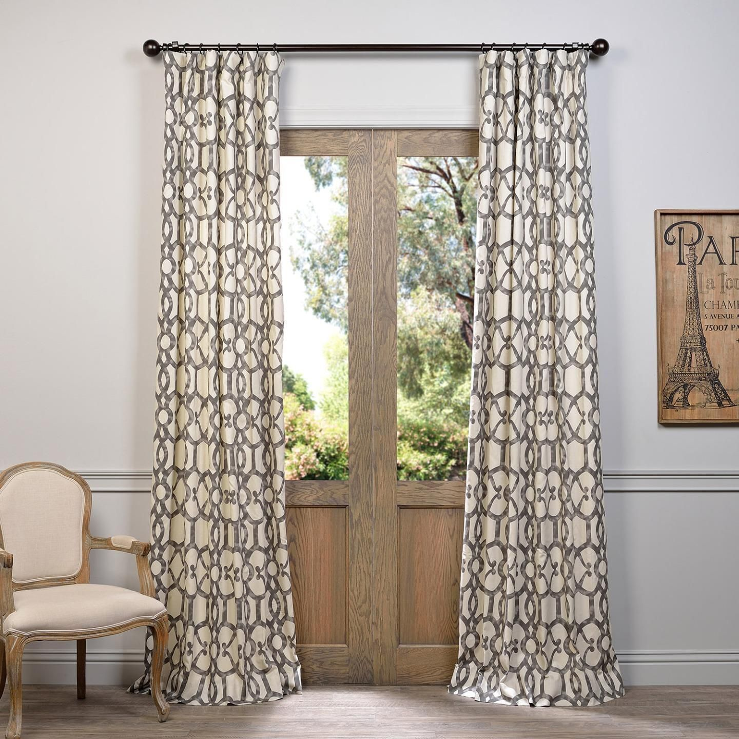 Curtain pair overstock shopping great deals on lights out curtains -  These Printed Cotton Curtains And Drapes Provide A Casual And Refined Look To Any Window