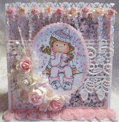 ScrapbookFashionista Designs by Rina: Marvelous Magnolia Winter DT Card and Matching Box Set